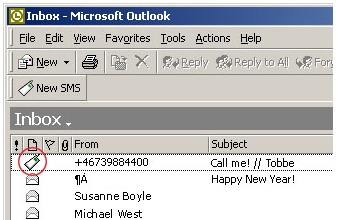 SMS из Outlook