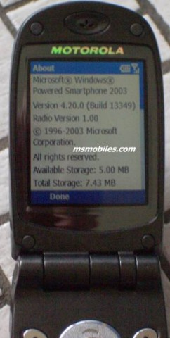Апгрейд до Windows Mobile 2003 для смартфона Motorola MPx200?
